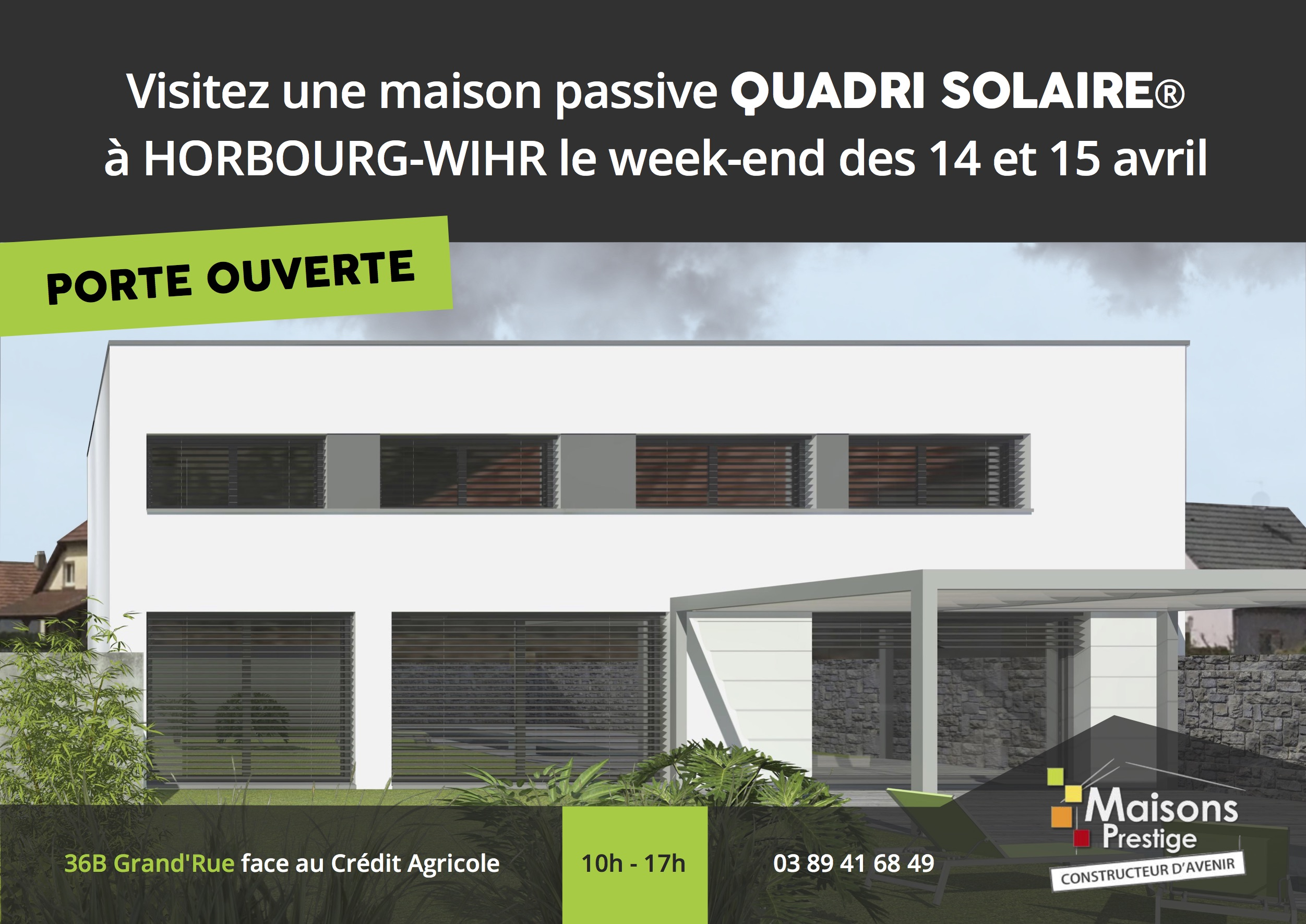 Porte ouverte maison passive quadri solaire 14 15 avril for Porte ouverte maison
